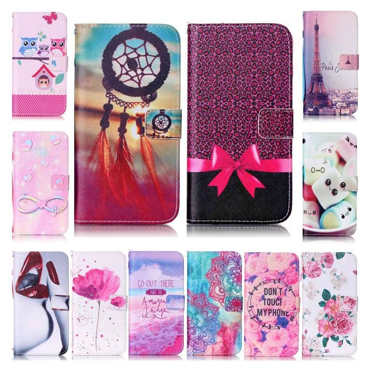 For iphone 7 case High Quality Gift Lips Transmission Tower Painting Pu Leather Case For apple iphone 7 7 Plus case Wallet cover