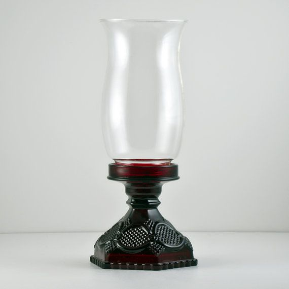 Avon Cape Cod Ruby Red Hurricane Lamp With Chimney Avon