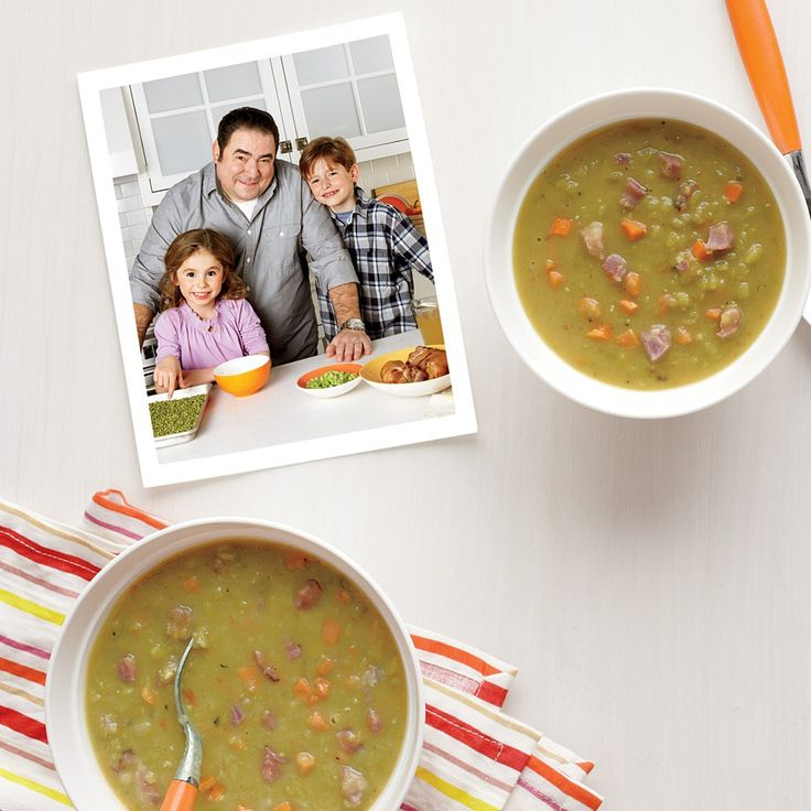 Slow Cooker Split Pea Soup-Emerill This soup makes enough to feed a ...