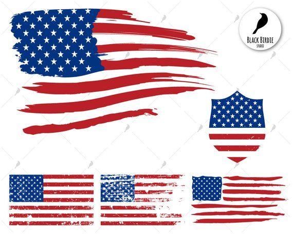 American flag distressed. Us svg clipart