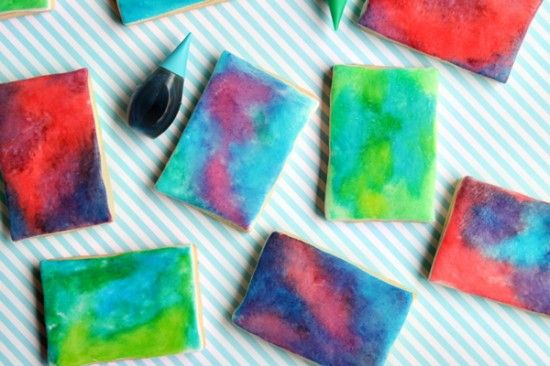 A watercolor cookie recipe to satisfy your dessert and art cravings.: Sweet, Watercolour Cookies, Food, Watercolors, Cookie Recipe, Art, Water Color