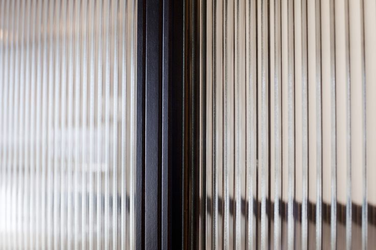 Ribbed Glass Metal Frame Detail Glass Door Glass