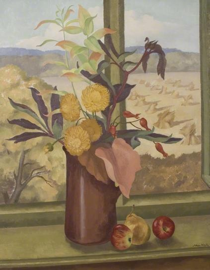 'Autumn' (1933) British painter John Nash (1893-1977). Painter of landscape and still-life, wood-engraver and illustrator, particularly of botanic works.