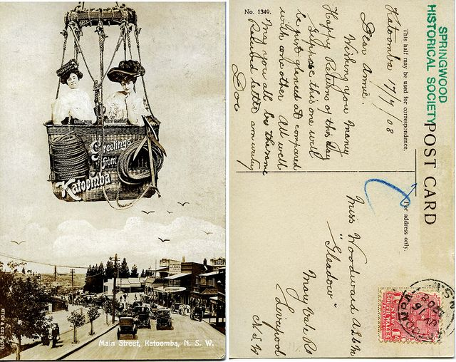 Greetings From Katoomba - Carrie Moore & Kitty Gordon - postcard