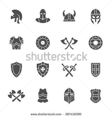 http://image.shutterstock.com/display_pic_with_logo/265048/387418390/stock-vector-medieval-armor-icon-set-387418390.jpg