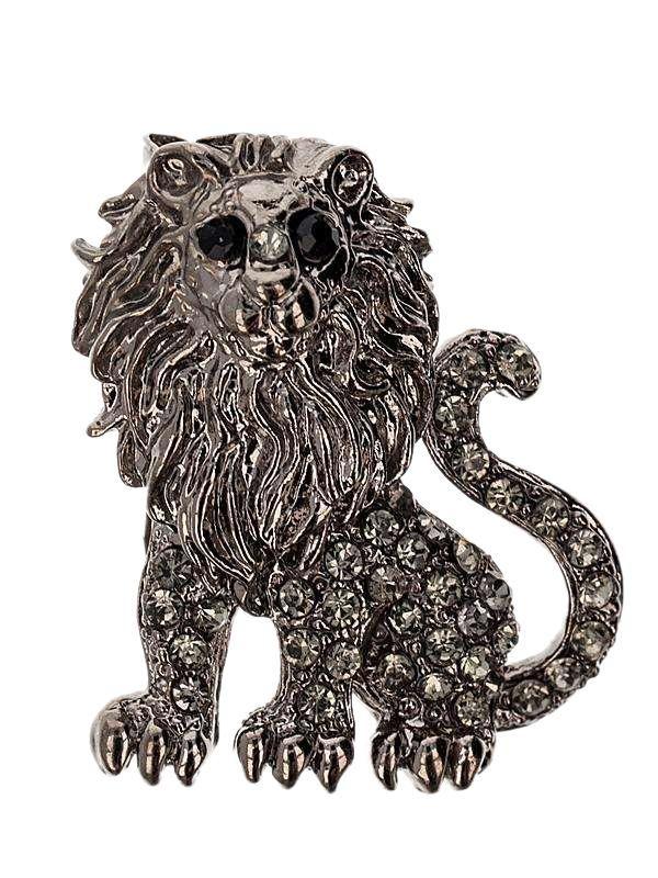 Brosa martisor in forma de leu de culoarea argintului tibetan impodobit cu pietricele multifatetate de culoare alba si neagra. Raspunde celor mai exigente gusturi! Saculet din organza de diferite culori CADOU!