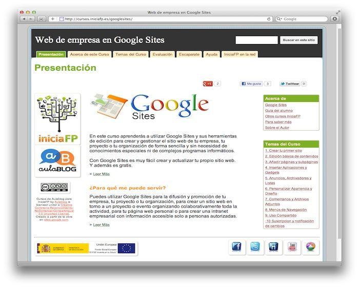 curso google sites