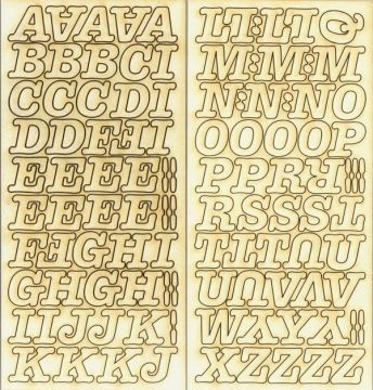 Chipboard - abc nagybetűk