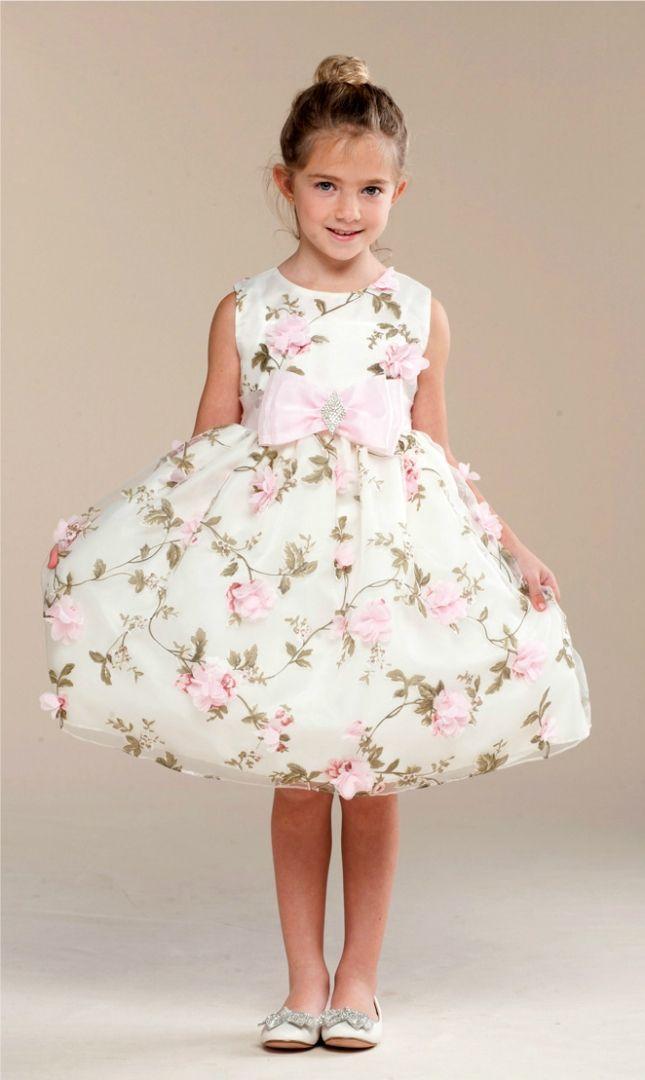 Flower Girl dress Celine. Sockersöt brudnäbsklänning i storlekar 68 -134/140 cm