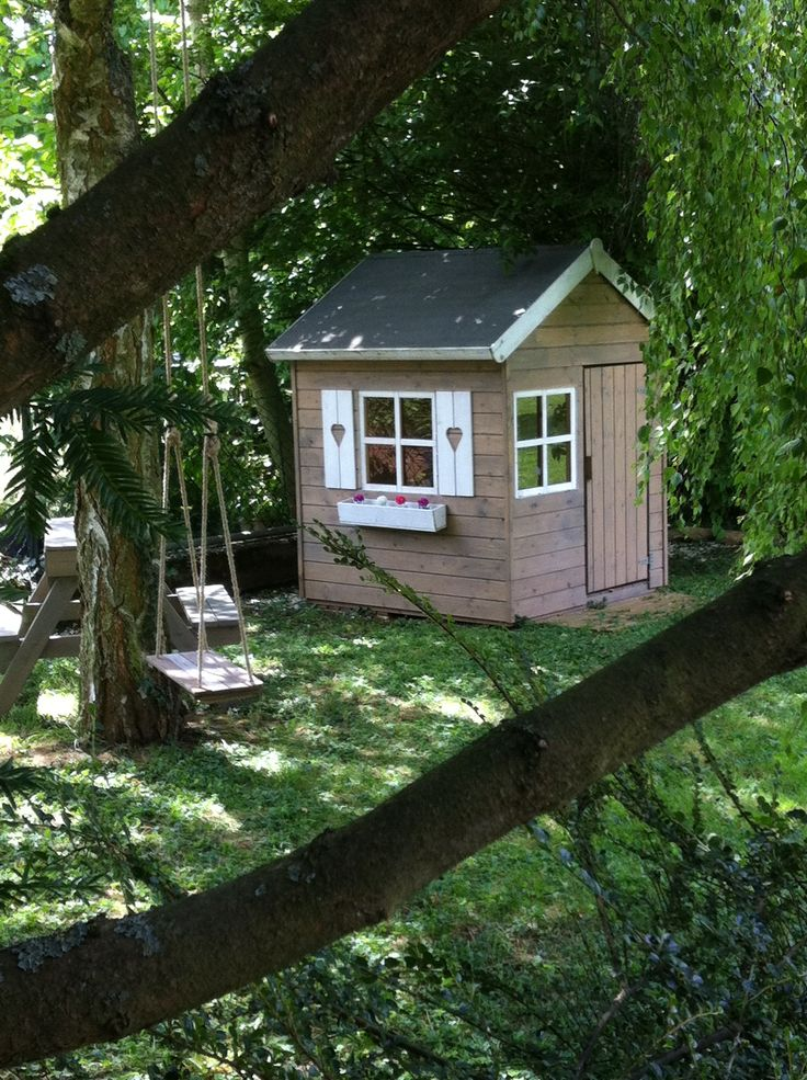 30 best images about cabane en bois on pinterest do it for Achat cabane jardin