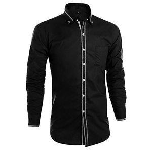 Camisa hombre manga larga,camisas hombre negro,camisa de hombre