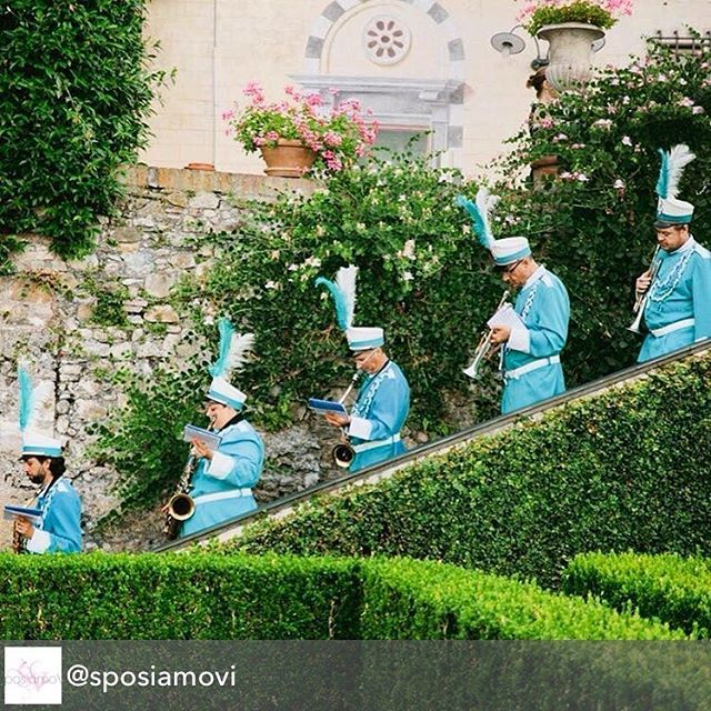 Last summer we had the chance to bring our favorite Italian marching band to the incredible La Cervara Abbey for one of the most romantic weddings ever. ❤️ This was the most fun and delightful surprise ever conceived by a bride, we loved it and we did our best to make it happen. This wouldn't have been possible without @sposiamovi's incredible support.  Sublime photo by @purewhite_photography  #musicaevento #weddingmusic #weddingmarchingband #marchingband #italianmarchingband #destinati...