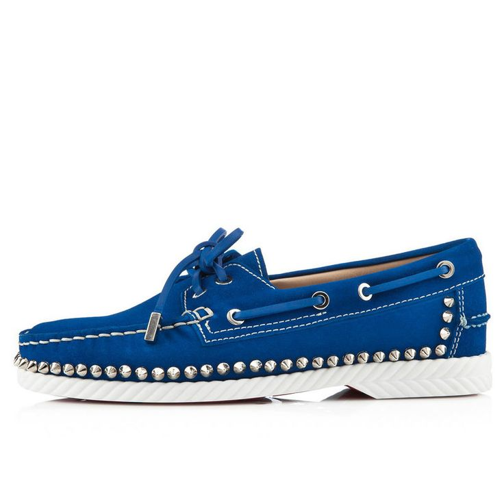 louboutin Loafer blu