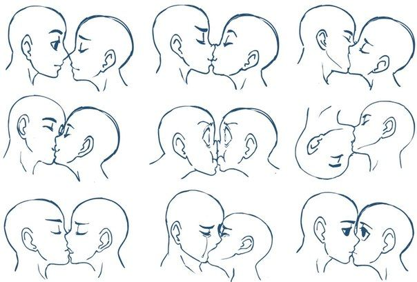 как рисовать поцелуй - Поиск в Google