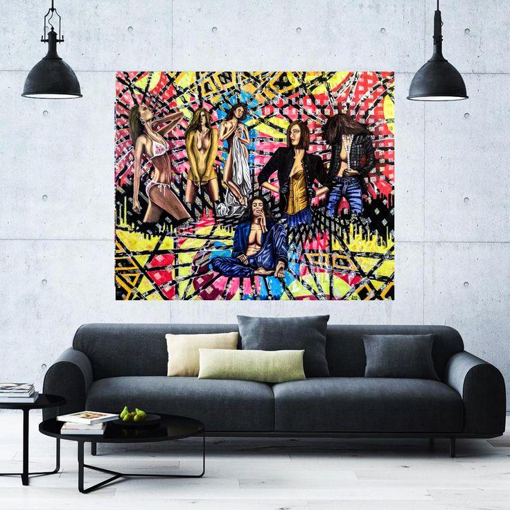Kadınlar (Women) by Hüseyin Ak Tuval Üzerine Yağlı Boya / #OilonCanvas 180cm x 150cm  #gallerymak #sanat #huseyinak #renk #kadın #figur #kadin #yagliboya #stil #tasarim #dizayn #dekorasyon #evdekorasyon #dekoratif #icdekorasyon #icmimari #cagdassanat #modernsaant #sanatgalerisi #resimsergisi #contemporaryistanbul #istanbulmodern #ankara #artankara #art #instaart #contemporaryart #expressionism #oilpainting
