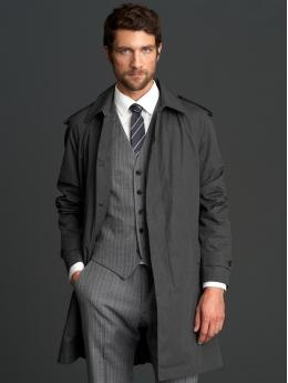 Love the long coat from the Banana Republic Mad Men collection; classic and classy.