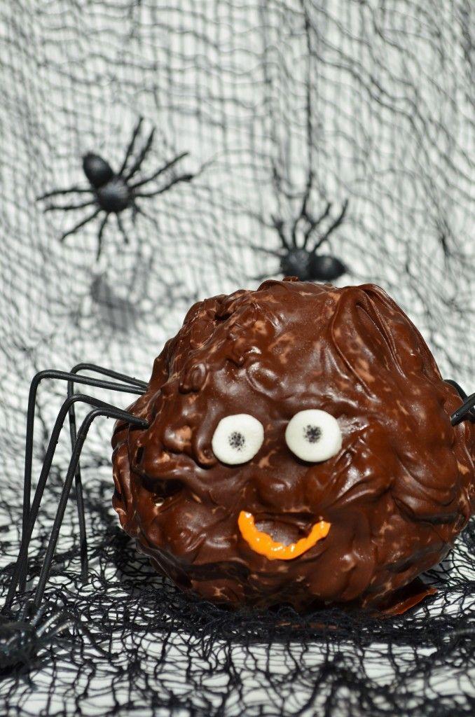 popcorn ball spider for kids