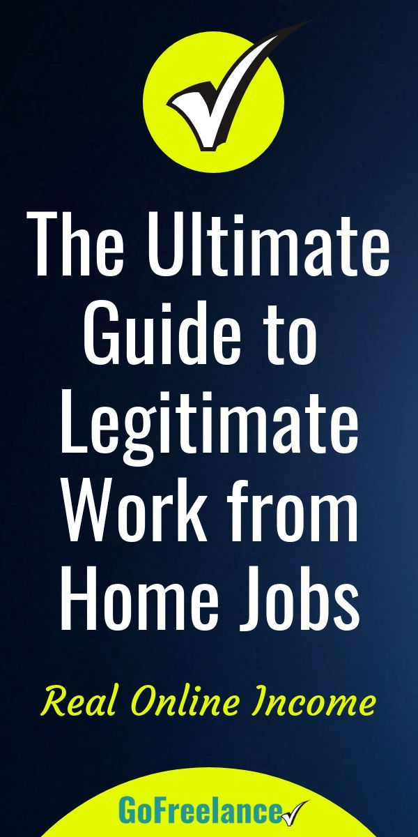 The Ultimate Guide To Real Legitimate Work From Home Jobs Work