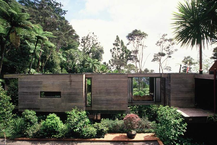 Sang Architects & Company Limited is an award winning architectural practice based in Auckland, New Zealand. The Brake House, Titirangi. The house is a large pavilion with rooms that can be screened off or opened up. A large glass sided tatami matted room projects out into the bush. Cedar was chosen that would weather in time attracting moss and being sympathetic to the wooded environment. The interior has been kept plain with niches and wall spaces for the owners collection of art and…