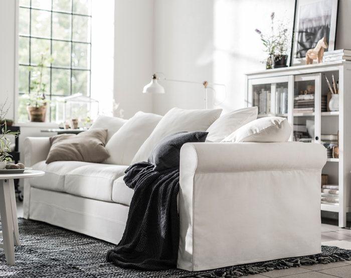 Ikea Grönlid 3er Sofa Mit Bezug Inseros In Weiß Ist Ein
