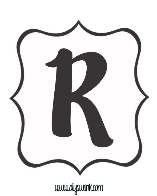 White and Black Letter_R