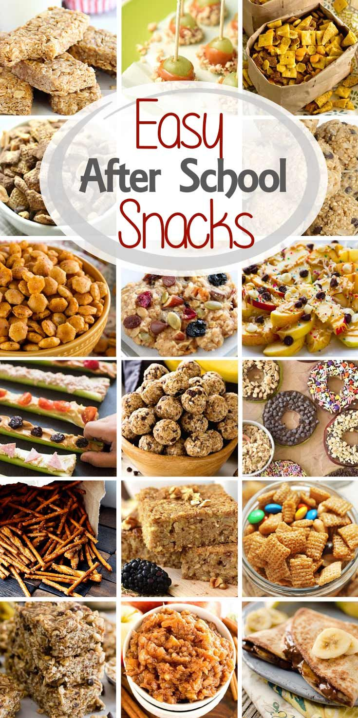 Are you looking for tasty, easy after school snacks that your kids will love? Today I've rounded up after school snack ideas including everything from snack bars and snack mix to popsicles and veggie pizza! You'll have plenty ofsnacks for after schoolnow! via @julieseats