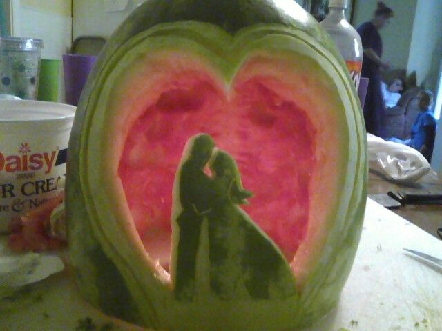 Wedding watermelon carving my carvings