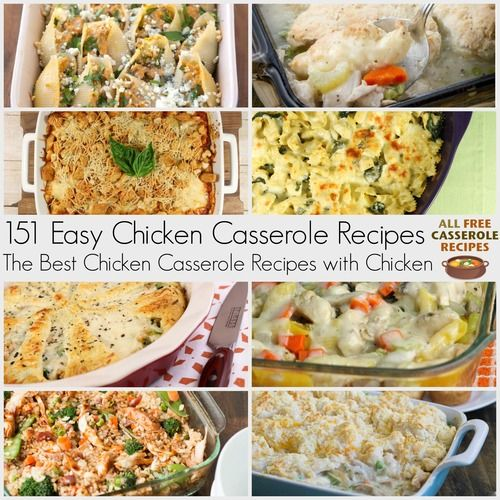 You can never have too many easy chicken casserole recipes! These recipes for chicken are perfect for weeknight dinners as well as potlucks with friends.
