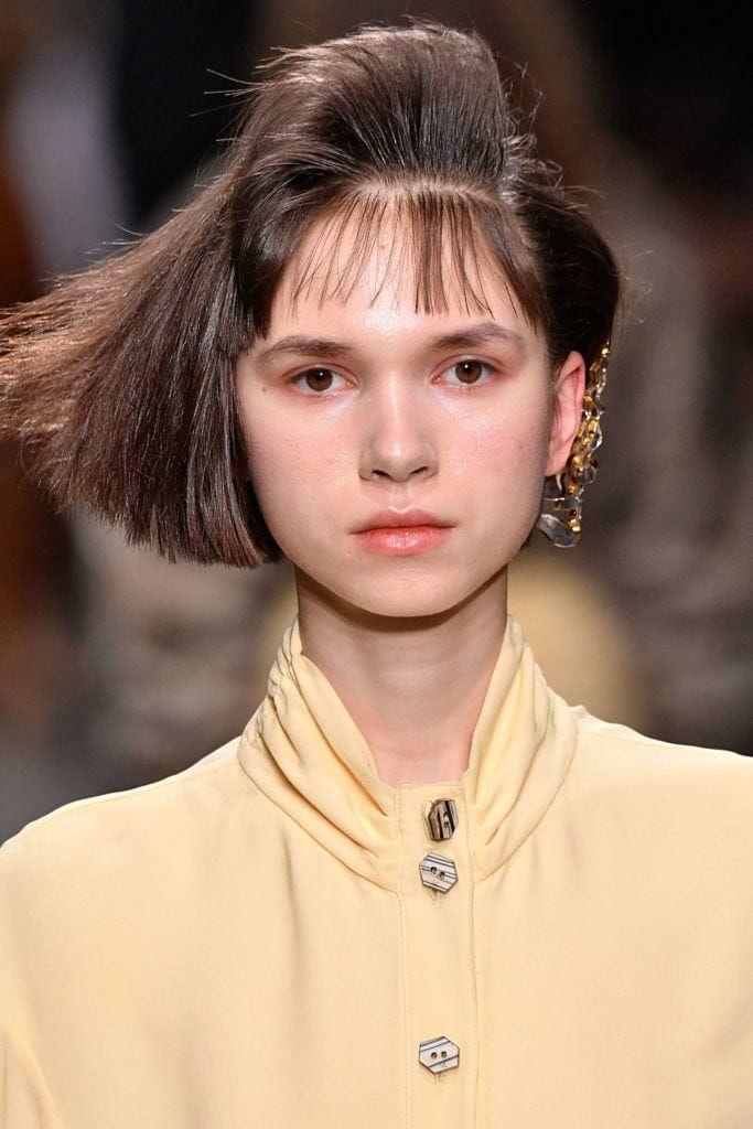 80s Hairstyles Blunt Bob Fanned Bangs 80s Short Hair Vintage Hairstyles Hair Styles