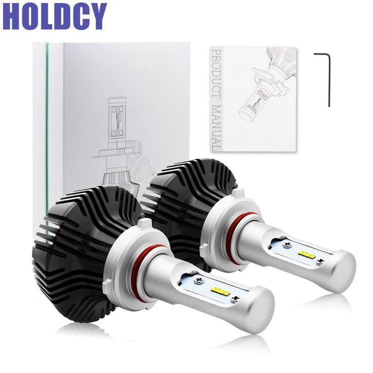 HoldCY HB3 9005 LED Car Headlight Bulb 80W 6500K 8000LM ZES Chip Fog Lights Automobilke Led Headlamp Bulbs Car LED HeadLight