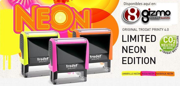 Edición Limitada sellos trodat Neón.