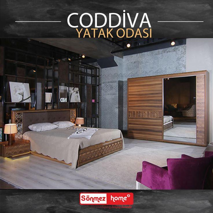 Coddiva Modern Yatak Odası Takımı ile haftaya huzurlu ve keyifli başlayın! #Modern #Furniture #Mobilya #Coddiva #Yatak #Odası #Sönmez #Home