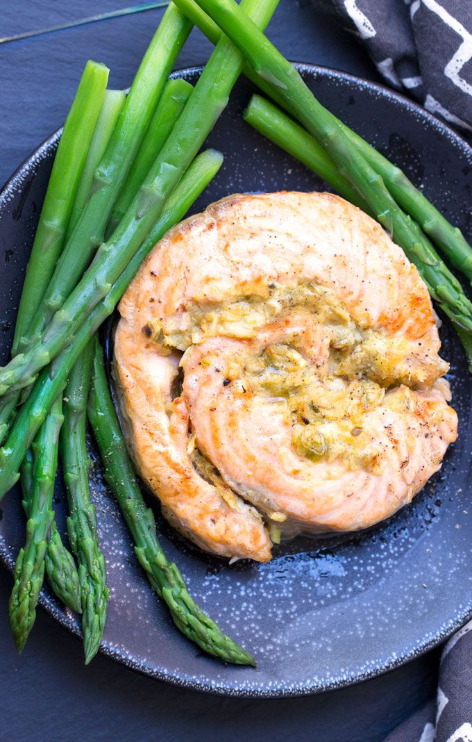 Here's one of the best ways to make melt-in-your-mouth, delicious broiled salmon, and it's surprisingly simple. Stuff or coat the salmon with a mixture of mustard, horseradish and scallions; set it under the broiler; and in just a few minutes, you'll have an elegant salmon dinner.