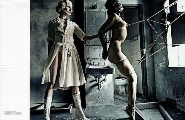 Crystal Renn and Karolina Kurkova Give us Nightmares in Interview Magazine's Envelope-Pushing Editorial
