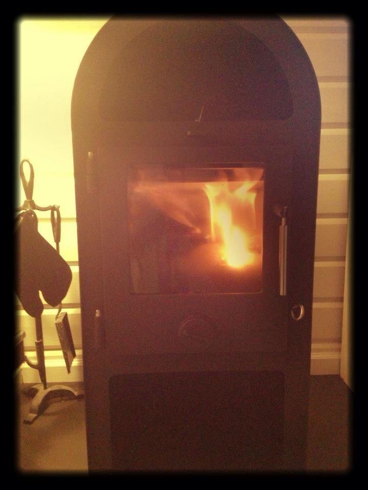 Enjoy the cozy fire