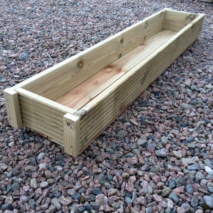 Large 1 Metre Wooden Garden Planter Box Trough Herb: 1000+ Ideas About Large Wooden Planters On Pinterest