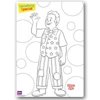 Download our Mr Tumble colouring sheets for the little ones