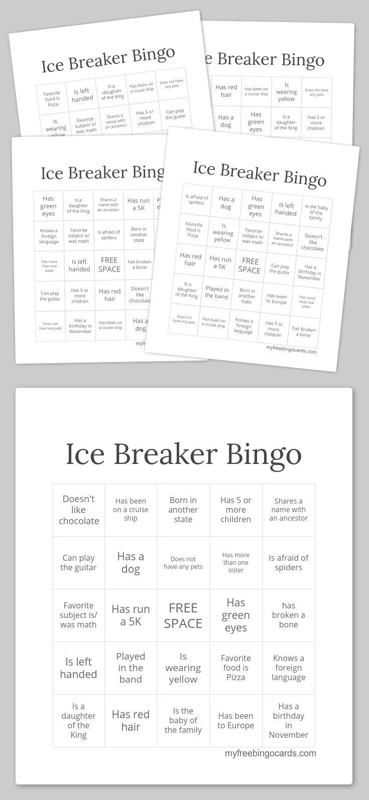 132 best bingo fun images on pinterest bingo cards for Ice breaker bingo template