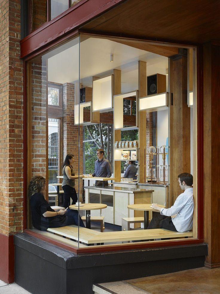 The Bohlin Cywinski Jackson architecture studio is behind the interior design project for the San Francisco Bay Area café, a Blue Bottle Coffee brand café. Design: Bohlin Cywinski Jackson Place: San Francisco, CA - USA Photos: Matthew Millman