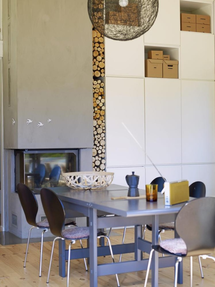 Love the fireplace wood insert