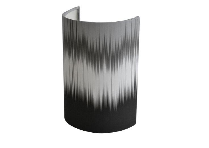 Monochrome ikat Small Ellipse Shield wall shade