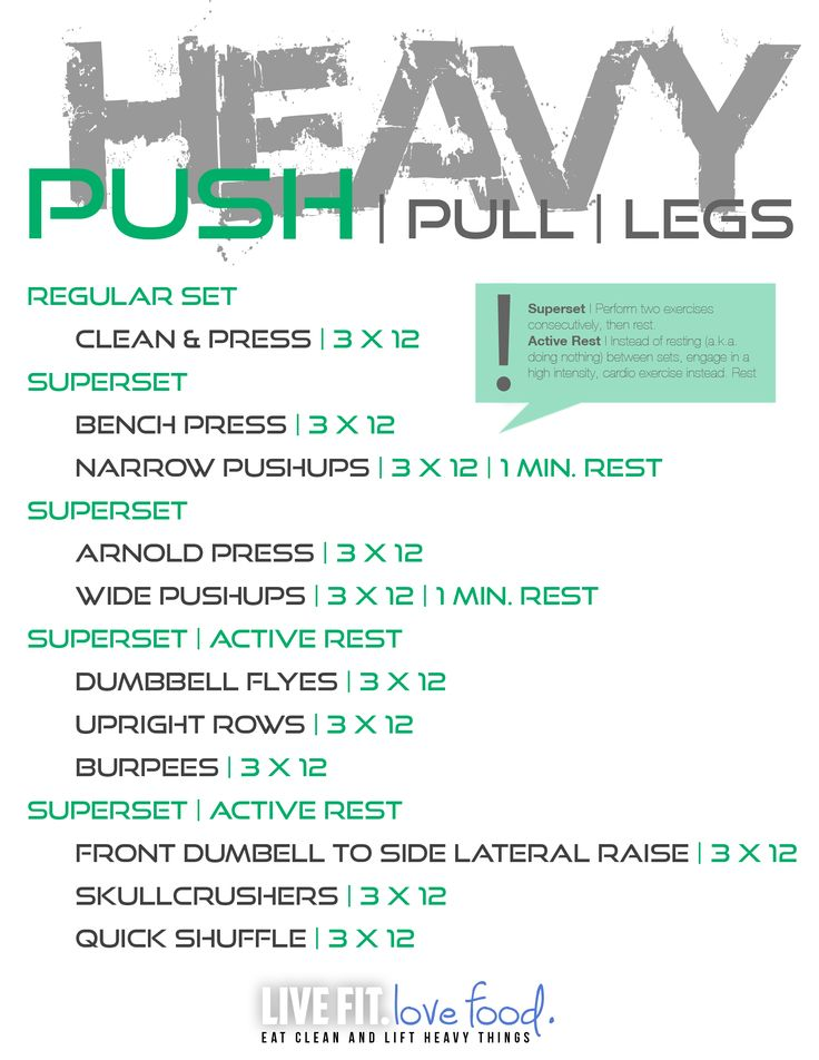Heavy Lifting....PUSH/PULL/LEG Split.