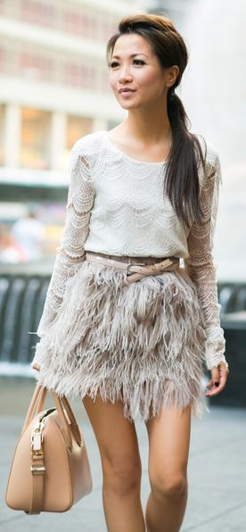 Feather Weather : Lace Tiered Top & Delicate Skirt by Wendy's Lookbook