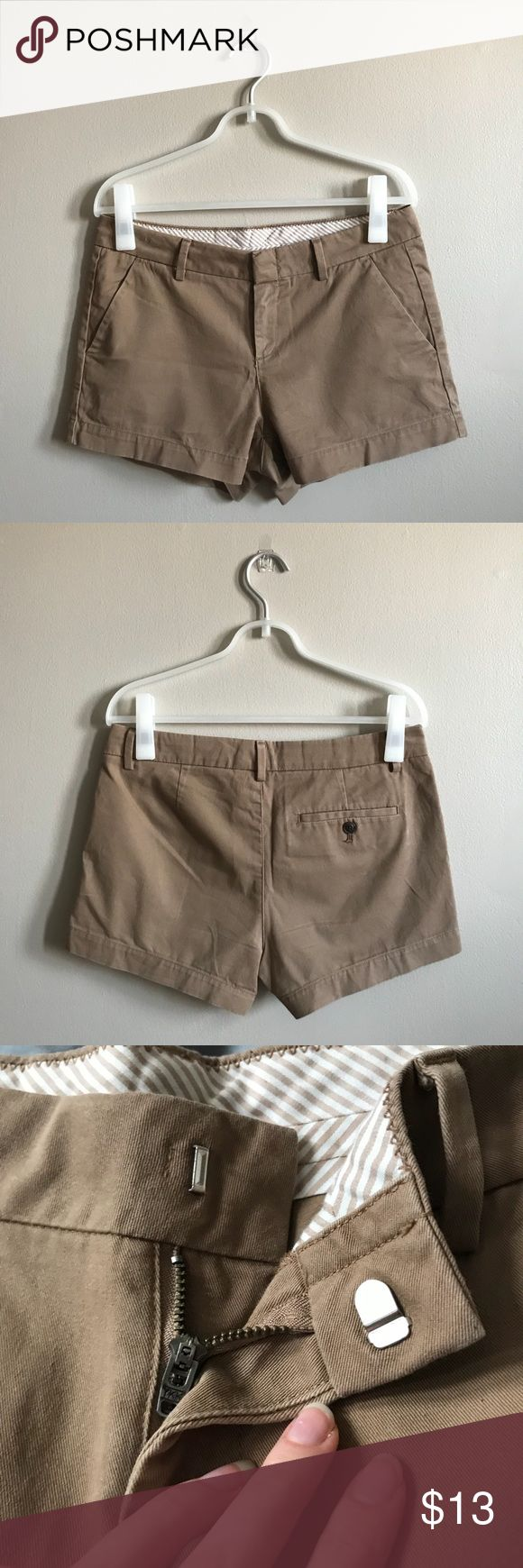 "Uniqlo Camel Micro Shorts ☀️ Uniqlo Micro Shorts (Camel). Cute light brown/khaki shorts from Uniqlo. Zipper and hook closure. Side pockets and one back pocket with button closure (extra button included). Wrinkles can easily be straightened out with a little steam. Size 4 (runs large) Hips: 32"" Inseam: 3""  • Accepts reasonable offers • Ships within 1-2 days of purchase • Offers 10% bundling discount on all items Uniqlo Shorts"