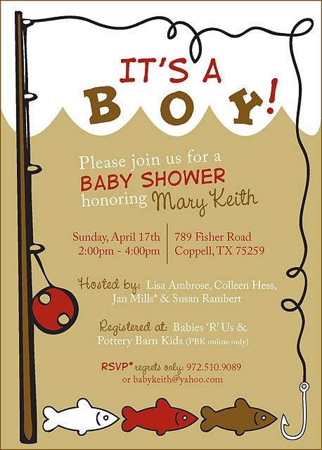 fishing baby shower invite: whenever my brother & Melissa have a boy!