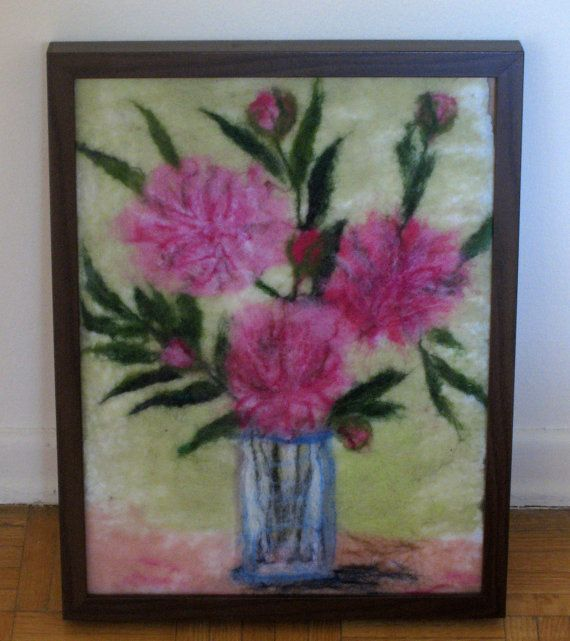 Spring sale felted wall hanging wool picture by Katrinmania