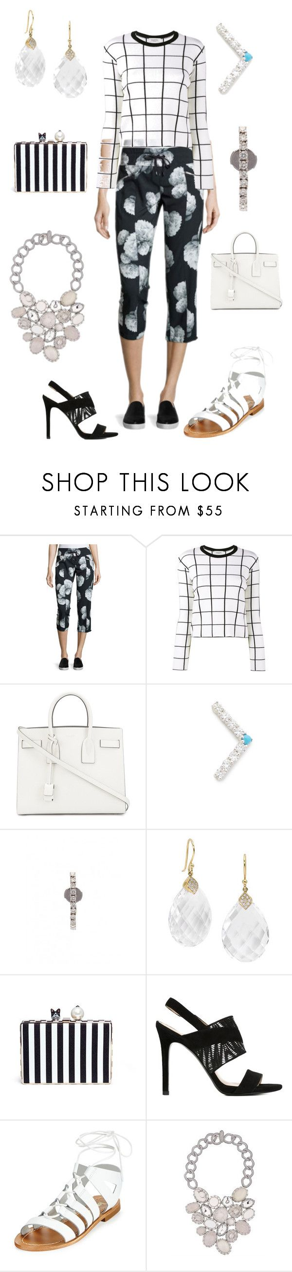 """""""walking behind you"""" by emmamegan-5678 ❤ liked on Polyvore featuring Marc New York, Valentino, Yves Saint Laurent, Fayt Jewelry, Yvonne Léon, Elizabeth Showers, Cecilia Ma, Stella Luna, Neiman Marcus and Boks & Baum"""