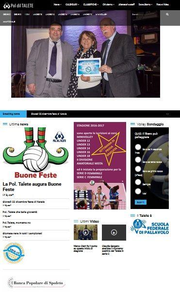 sito web per la polisportiva Talete Volley