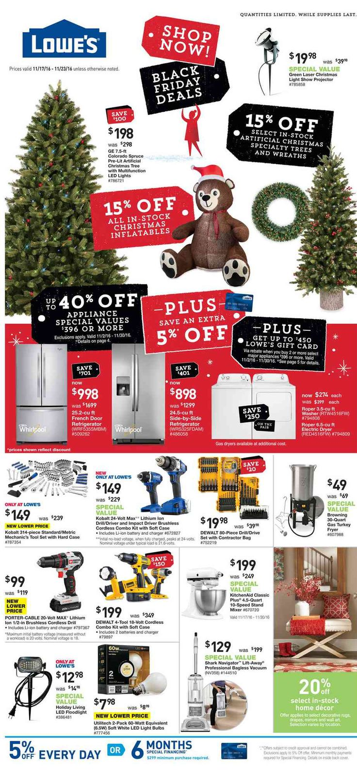 Lowe's Weekly Ad November 17 - 23, 2016 - http://www.olcatalog.com/home-garden/lowes-weekly-ad.html