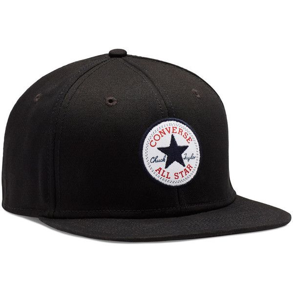 Converse Snapback Hat – black ($25) ❤ liked on Polyvore featuring accessories, hats, black, converse hat, snapback hats, snap back hats and cotton hat